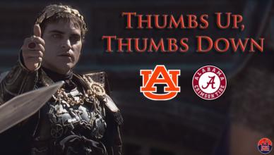 auburn thumbs up down alabama football iron bowl 2017