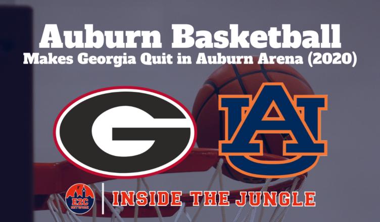 Auburn Basketball Makes Georgia Quit In Auburn Arena 2020